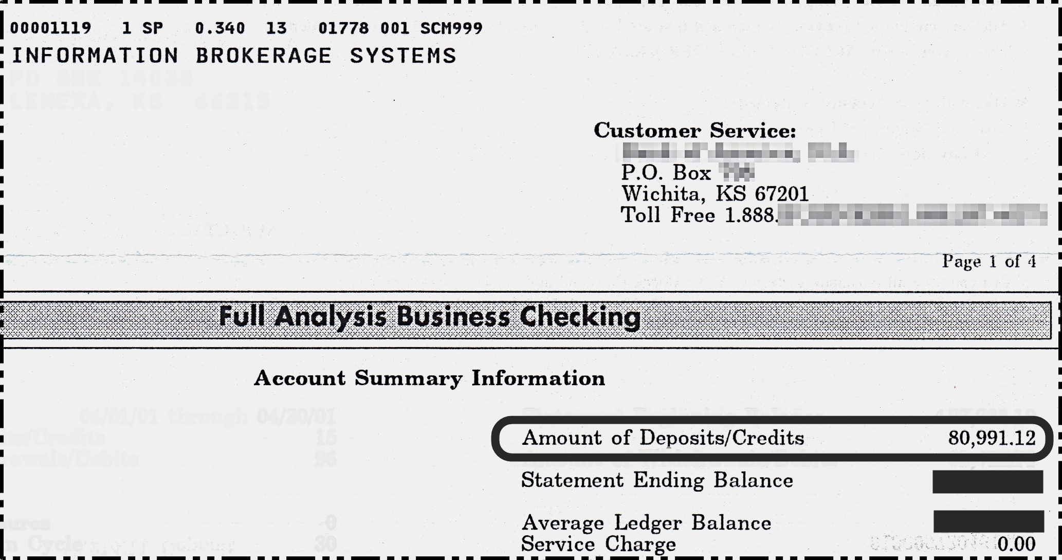 $80,991.12 Bank Statement